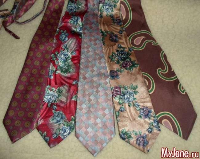 Абажур з чоловічих краваток