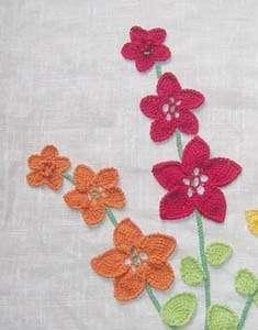 Панно «Три орхідеї». Довгим/туніським гачком