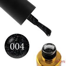 ≡ Гель-лак F.O.X Diamond 004 чорний з кольоровими переливаючими дрібними  блискітками, 6 мл в Києві, ціна, відгуки — Naomi24.ua